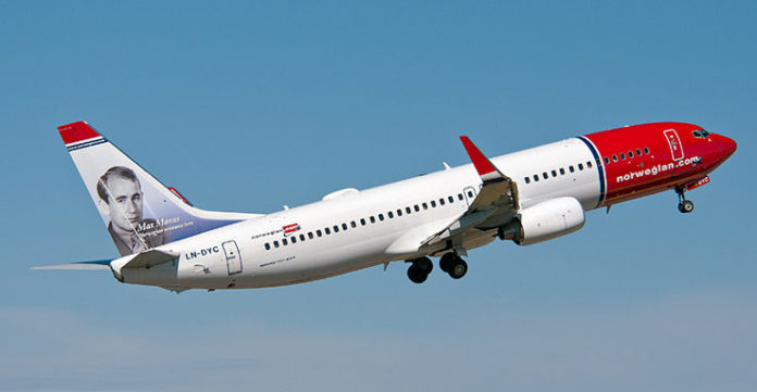 NORWEGIAN AIR announced adjustments to its flights from T.F. Green, including discontinuing its flights to Bergen, Norway. / COURTESY NORWEGIAN AIR