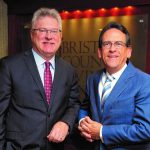 BRISTOL COUNTY Savings Bank President and CEO Patrick J. Murray Jr., left, stands with Lou Ricciardi, owner and president of Ricciardi Financial Group. The two have formed a new venture called Bristol Wealth Group. / COURTESY BRISTOL WEALTH GROUP
