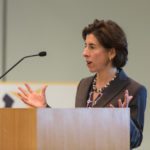 GOV. GINA M. RAIMONDO has introduced a fiscal 2019 state budget that represents a sligh increase in spending./ PBN FILE PHOTO/RUPERT WHITELEY
