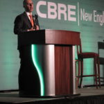 PROVIDENCE MAYOR JORGE O. Elorza speaks at the CBRE 2018 Market Outlook, presented by CB Richard Ellis New England. / PBN PHOTO/MARK S. MURPHY
