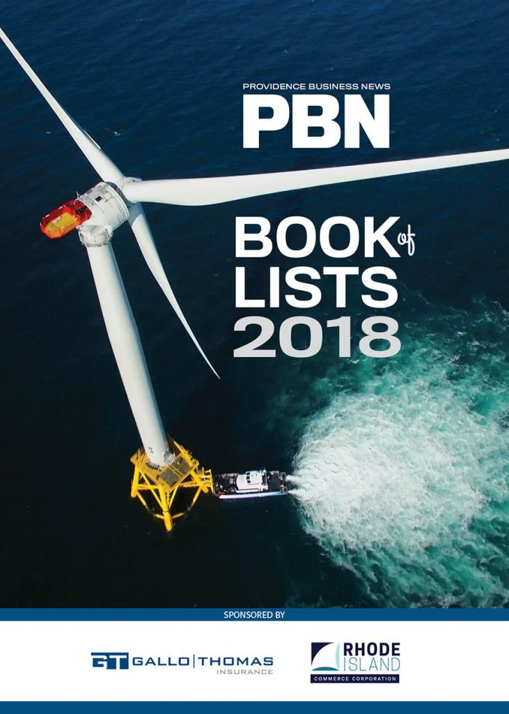 THE PROVIDENCE BUSINESS NEWS Book of Lists 2018.