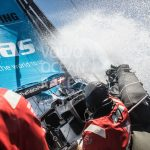 VESTAS 11TH HOUR RACING was involved in a collision Friday near Hong Kong that resulted in a non-racing crew fatal casualty during the Volvo Ocean Race. An investigation into the collision is ongoing. / COURTESY VOLVO OCEAN RACE/MARTIN KERUZORE