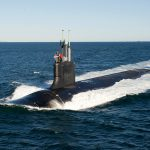 IN ITS YEAR-END SEC report, General Dynamics highlighted its Marine Division's work on both the Virginia-class submarine, pictured above, and its work on the Columbia-class submarine as major projects. / COURTESY ELECTRIC BOAT