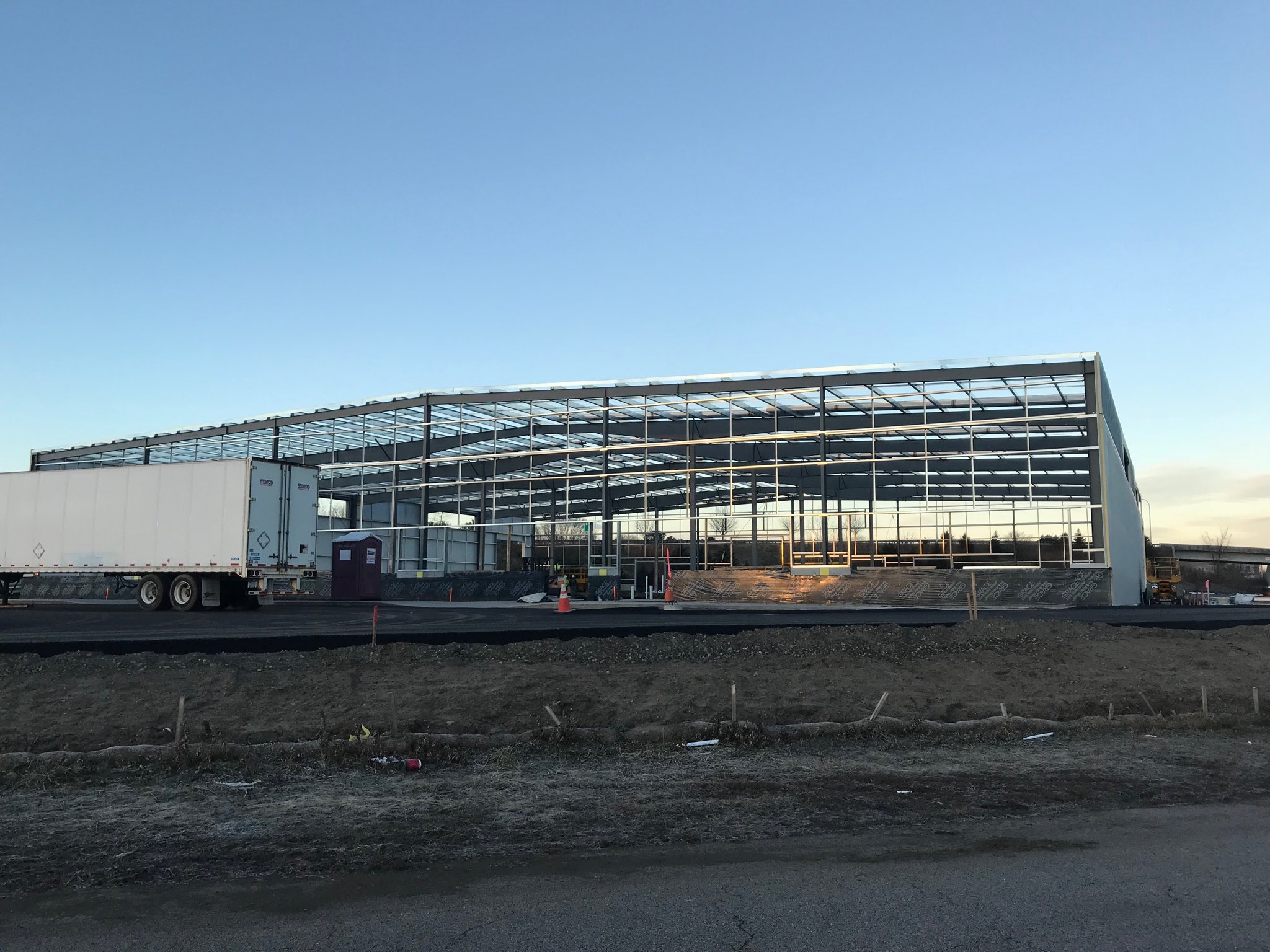 A new campus of flexible industrial and warehouse space is under construction at Quonset Business Park./STEVEN KING