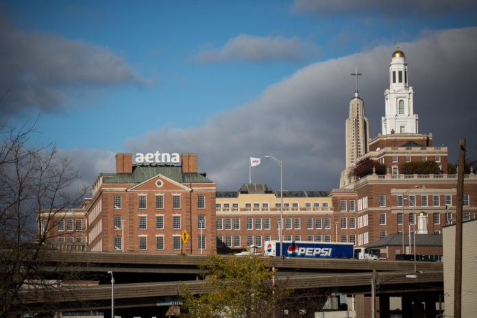 CVS HEALTH CORP. intends to keep Aetna Inc. headquarters in Hartford, Conn. / BLOOMBERG FILE PHOTO/MICHAEL NAGLE
