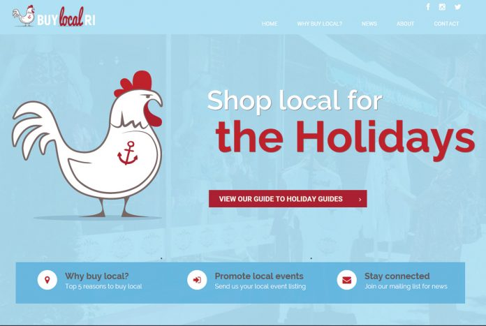 TRAFFIC BOOST: The Rhode Island Foundation, which launched online directory Buy Local Rhode Island, above, in 2014, says holiday-shopping traffic increased in 2017.  / COURTESY RHODE ISLAND FOUNDATION