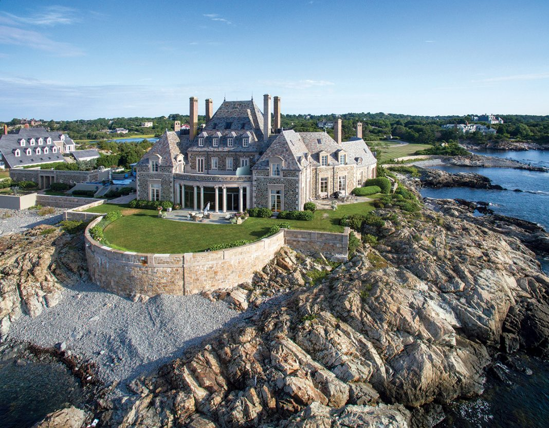 TOP SALE: Newport's Seafair at 254 Ocean Ave., purchased in November by television personality Jay Leno for $13.5 million, was the most expensive home sale in the state in 2017. / COURTESY MICHAEL OSEAN
