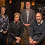 THE RHODE ISLAND FOUNDATION is awarding $130,000 in grants and scholarships through its new Black Philanthropy Bannister Fund. From left, Beverly Ledbetter, Linda Newton, Brendan Kane and Edward Clifton serve on the fund's advisory committee. / COURTESY RHODE ISLAND FOUNDATION
