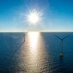STATE ENERGY COMMISSIONER Carol Grant says the new Block Island Wind Farm, above, and the state's energy-efficiency programs will help the state reach Gov. Gina M. Raimondo's goal of generating 1,000 megawatts of renewable energy by 2020. / COURTESY DEEPWATER WIND