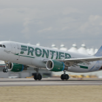 FRONTIER AIRLINES has added a seasonal route to Myrtle Beach, S.C., from T.F. Green Airport. / COURTESY FRONTIER AIRLINES