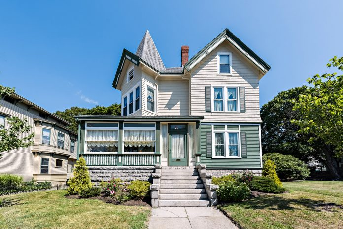 THE MAPLECROFT HOUSE at 306 French St. in Fall River, purchased by Lizzie Borden following her acquittal on murder charges in 1893, sold recently for $600,000. / COURTESY MOTT & CHACE SOTHEBY'S INTERNATIONAL REALTY