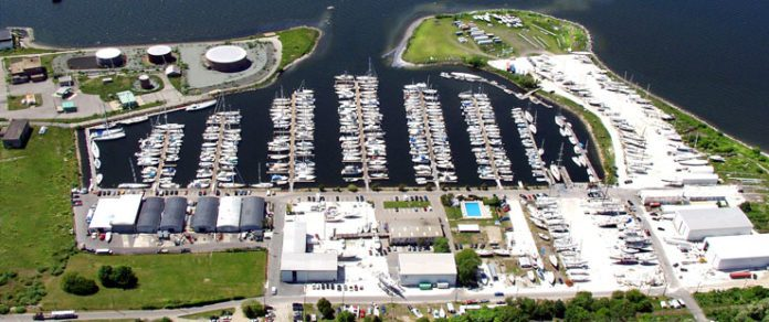 THE U.S. DEPARTMENT OF THE INTERIOR announced a $933,117 grant to fund the R.I. Division of Fish and Wildlife to assist New England Boatworks with the construction of over 336 feet of additional dockage reserved for transient recreational boats 26 feet or longer. / COURTESY NEB