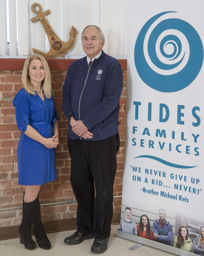 BETH BIXBY is the new CEO at Tides Family Services, and Brother Michael Reis has been named chief visionary officer. / COURTESY TIDES FAMILY SERVICES