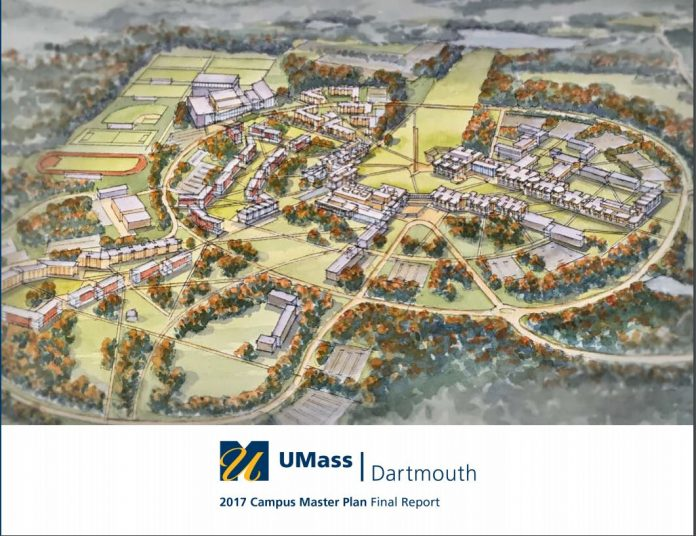 On Wednesday the University of Massachusetts Dartmouth launched its facilities and land use master plan as part of its UMassDTransform2020 strategic plan. / COURTESY UMASS DARTMOUTH