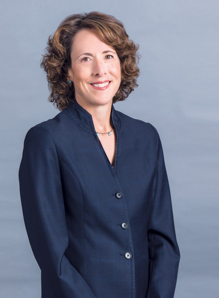 Kim Keck grew up in Cumberland. As a fourth-generation Rhode Islander, she jumped at the chance to return to her home state to lead a company that has proudly served Rhode Islanders and local businesses for nearly 80 years. / COURTESY BLUE CROSS & BLUE SHIELD OF RHODE ISLAND