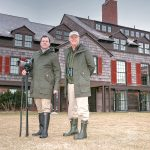 PARTNERSHIP: Above, Mark Bullinger, right, in-house naturalist, and General Manager Simon Dewar on the grounds of the Weekapaug Inn on the shore of Quonochontaug Pond in Westerly. / PBN PHOTO/BRIAN MCDONALD