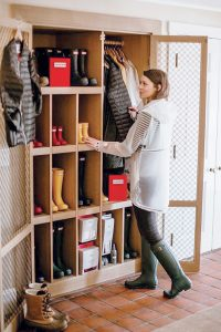 Sporting boots and jackets are available for guests to borrow at Weekapaug Inn through a partnership with the Hunter Boots lending closet, providing boots and wind- and waterproof apparel to the inn for free. / COURTESY WEEKAPAUG INN