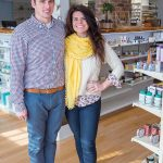 HOMEGROWN: Owners Matthew and Erika Olivier sell locally made health and beauty products at Matt's Local Pharmacy in Middletown. / PBN PHOTO/KATE WHITNEY LUCEY