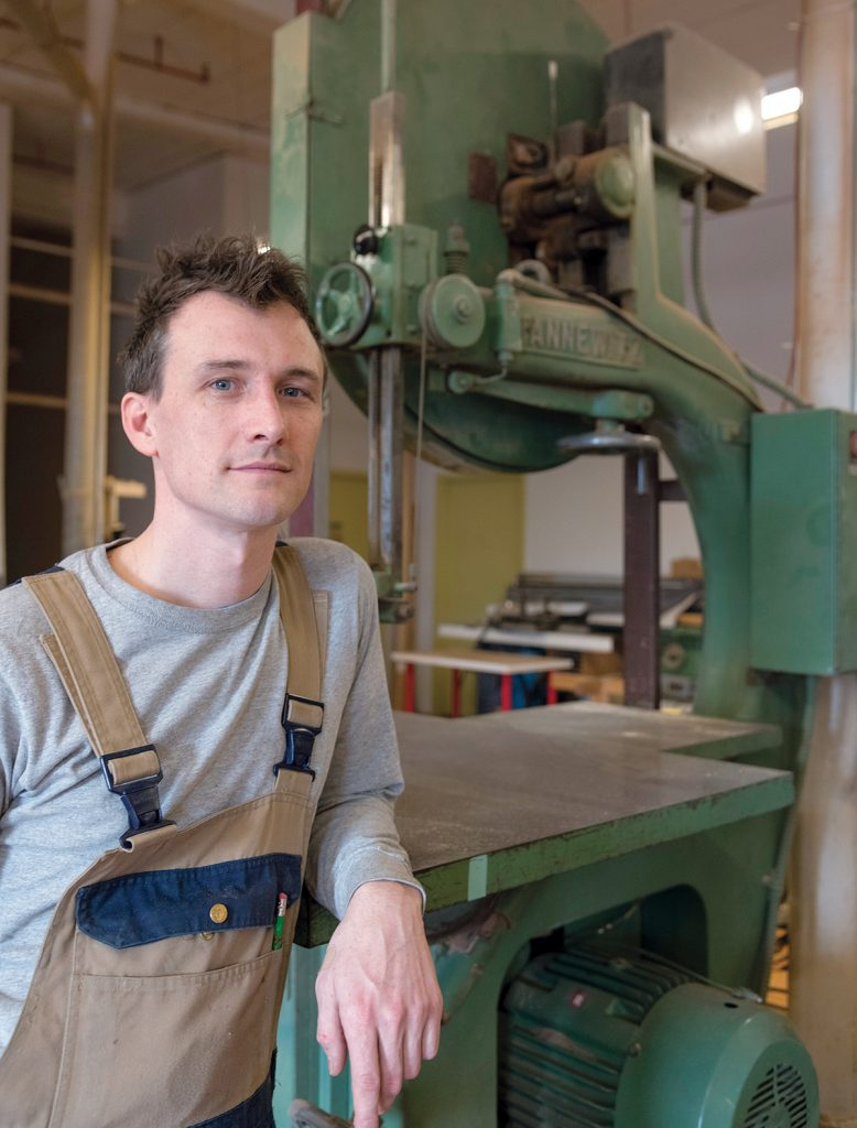 MULTITALENTED: Lutz Furniture owner Peter Lutz founded the Providence-based furniture-design business after working for other companies as a machinist, finisher and designer for several years. / PBN PHOTO/MICHAEL SALERNO