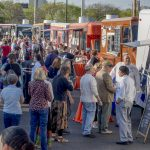 THE SEVENTH annual Eat Drink RI Festival will take place April 25-28. Above, crowds gather for the Truck Stop event, part of the sixth annual Eat Drink RI Festival. The Truck Stop event has returned for the 2018 festival. / COURTESY EAT DRINK RI