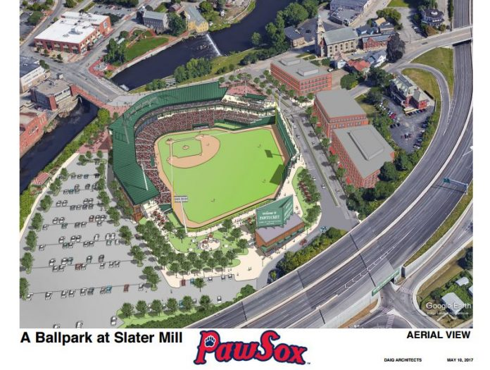 "The GROWSMART RI 2018 Power of Place Summit session, ""The Ballpark at Slater Mill: Looking Back, Looking Ahead,"" looked at the recent history of the stadium development proposal made by the Pawtucket Red Sox. / COURTESY PAWTUCKET RED SOX"