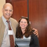 KELLY MCCARTHY, right, corporate director of memory care at LCB Senior Living in Norwood, Mass., served as the keynote address speaker at the Alzheimer's Association Caregiver's Journey conference two years ago. She is pictured with Jerome Morgan, who has Alzheimer's disease and attended the conference. / COURTESY ALZHEIMER'S ASSOCIATION
