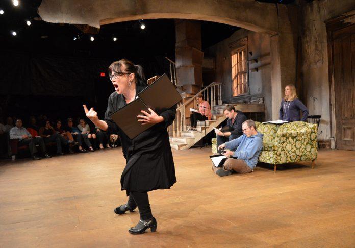 CASEY SEYMOUR KIM, of the Sandra Feinstein-Gamm Theatre, performs during