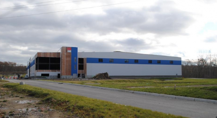 THE LONGPLEX FAMILY Fitness & Sports Center in Tiverton is nearing completion, according to DiPrete Engineering, which is handling site design and other aspects of the work. / COURTESY DIPRETE ENGINEERING