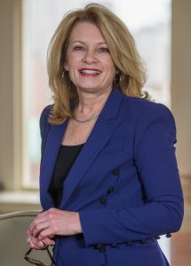 MIM L. RUNEY, chief operating officer for Johnson & Wales University and president of its Providence campus has been awarded the PBN 2018 C-Suite Awards Career Achiever award. / COURTESY JOHNSON & WALES UNIVERSITY