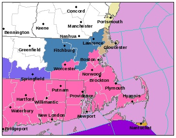 A WINTER STORM WARNINGS has been issued for all of Rhode Island and southeastern Massachusetts. / COURTESY NWS