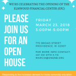 ELMWOOD FINANCIAL CENTER, the new office being opened by ONE Neighborhood Builders in the Elmwood neighborhood of Providence, will hold an open house on March 23. / COURTESY ONE NEIGHBORHOOD BUILDERS