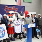 "AS PART OF A MINOR LEAGUE BASEBALL initiative to be more inclusive, the Pawtucket Red Sox will be renamed the Osos Polares de Pawtucket, ""Polar Bears of Pawtucket"" in English, during all Tuesday games this season. The program was revealed at a Tuesday morning press conference at Ella Risk Elementary School in Central Falls, a school that has about a 78% Hispanic student population, according to the team. / COURTESY PAWTUCKET RED SOX"