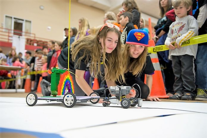 STUDENTS WHO ARE home-schooled, in middle school, high school and college are a big component of the annual Robot Block Party. / COURTESY BROWN UNIVERSITY/PETER GOLDBERG