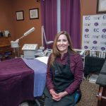 TOP AESTHETICIAN: Michelle Maynard, owner of 360 Face Mind Body in Coventry, was named a finalist in the holistic category of the international Skin Games and will move on to the main competition and awards ceremony in California on April 7. / PBN PHOTO/MICHAEL SALERNO