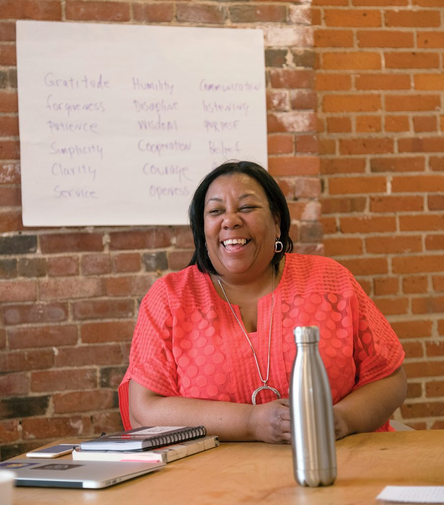 GETTING INVOLVED: Ditra Edwards opened The Center for Community Transformation last year in an effort to get community members more involved in the civic process. / PBN PHOTO/MICHAEL SALERNO