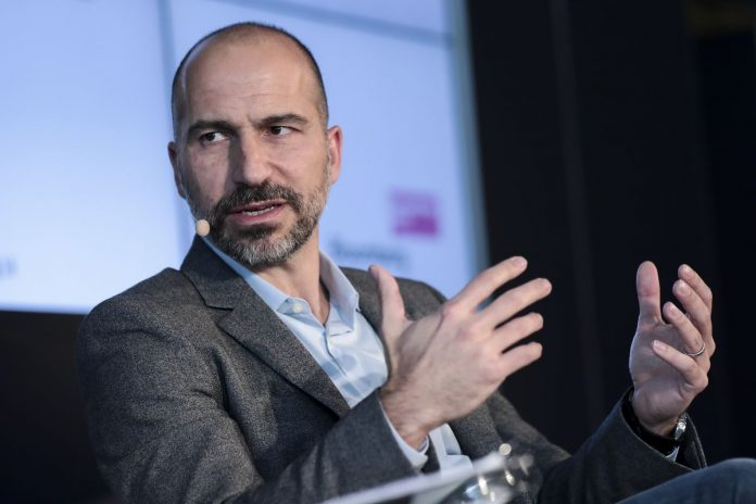 DARA KHOSROWSHAHI is CEO of Uber. Uber recently acquired Jump Bikes, the company Providence has contracted to establish a bike-share program in the city. / BLOOMBERG FILE PHOTO/SIMON DAWSON