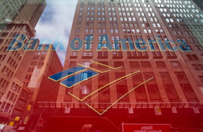 BANK OF AMERICA reported net income of $6.92 billion for the first quarter. / BLOOMBERG FILE PHOTO/RON ANTONELLI