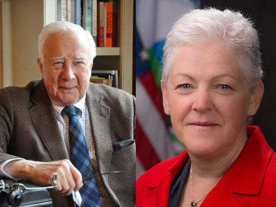 AUTHOR DAVID MCCULLOUGH (left) and former EPA Administrator Gina McCarthy (right) will serve as the commencement speakers for Providence College and the University of Rhode Island. / COURTESY PROVIDENCE COLLEGE AND THE UNIVERSITY OF RHODE ISLAND