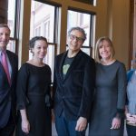 THE RHODE ISLAND FOUNDATION has announced the recipients of its annual Carter Fellowships for Entrepreneurial Innovation. From left to right, The Rhode Island Foundation's Neil D. Steinberg and Jessica David stand with the 2018 winners: Erminio Pinque, Kate Lentz and Eva Agudelo. / COURTESY RHODE ISLAND FOUNDATION