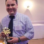 THE NORTHERN RHODE Island Collaborative honored Dr. Jason Rafferty for his work with students and staff at the center during its March 22 annual meeting. / COURTESY NRIC