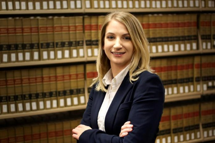 KAYLA VENCKAUSKAS, a student at the University of Massachusetts School of Law in Dartmouth, has been selected as a 2018 fellow in the Rappaport Fellows Program in Law and Public Policy, a paid summer internship for law students interested in public service. / COURTESY UMASS LAW