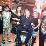 REP. JIM LANGEVIN, D-R.I., with Providence Preservation Society staff, volunteers and guests at the Providence Preservation Society Winter Bash, which raised more than $30,000. / COURTESY PROVIDENCE PRESERVATION SOCIETY/ASHLEY MCCABE PHOTOGRAPHY