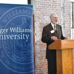 "ROGER WILLIAMS UNIVERSITY President Donald J. Farish says weaving art into STEM ""is a way to nurture curiosity in science and engineering."" / COURTESY ROGER WILLIAMS UNIVERSITY"