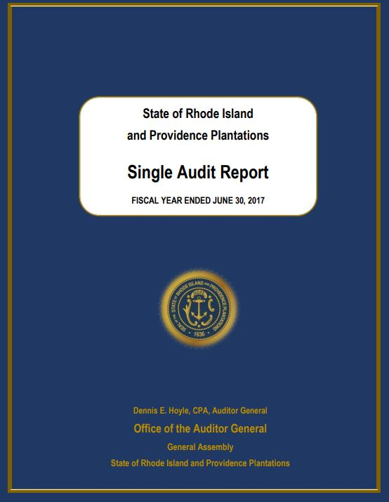 THE FISCAL 2017 SINGLE AUDIT for Rhode Island consisted of 79 recommendations. Many of the issues were related to the RIBridges system, part of the UHIP computer overhaul. / COURTESY OFFICE OF THE AUDITOR GENERAL
