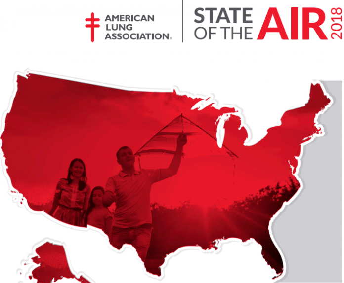 THE AMERICAN LUNG ASSOCIATION'S 2018 State of the Air report notes improved air quality in Rhode Island, with Washington County the worst in the region. / COURTESY ALA
