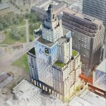 A RENDERING of a glass-laden Superman Building in the Commerce RI Amazon HQ2 pitch. / COURTESY COMMERCE RI