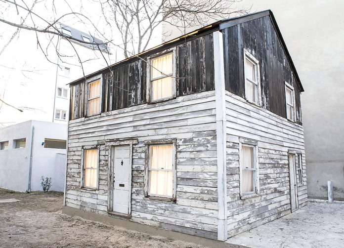 THE RHODE ISLAND SCHOOL of Design held a symposium centered on the Rosa Parks family home currently on display at WaterFire Arts Center in Providence. Their announcement of the symposium came more than two months after Brown University dropped ties with the home's owner and artist, Ryan Mendoza. / COURTESY FABIA MENDOZA