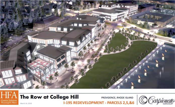 The Row at College Hill would place an integrated mixed-use development in Providence on the East Side./COURTESY CARPIONATO GROUP