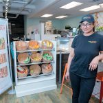 DOUBLE DUTY: Sneha Sabnani is the owner of both Tropical Smoothie Cafe franchises in Rhode Island. She is pictured above at the Thayer Street location in Providence. A third franchise of the fast-casual restaurant is slated to open in Cranston this summer. / PBN PHOTO/MICHAEL SALERNO