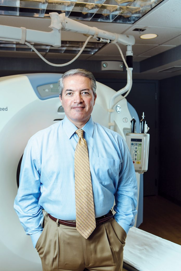 RHODE ISLAND MEDICAL IMAGING and its president, Dr. John Pezzullo, above, have been named in a whistleblower lawsuit filed by the company's former executive director, Wayne Arruda. / PBN FILE PHOTO/RUPERT WHITELEY